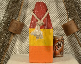 Lobster Buoy In Brown, Yellow & Orange