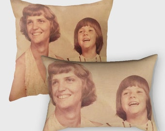 Custom Photo Gifts, Mother's Day Gifts, Gift for Mom, Custom Photo Pillow, Throw Accent Pillows Outdoor, Lumbar Pillow, Gift for Grandma