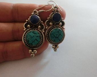Lapis Lazuli Dangle Drop Earring