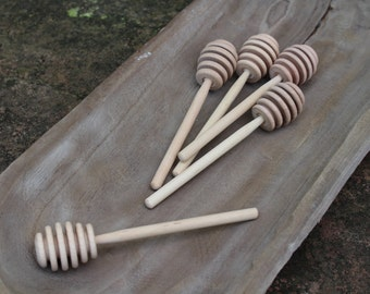 Wooden Honey Dippers / Set of 5