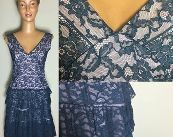 ORIGINAL 1930's/ 1940's LACE OVERLAY Dress