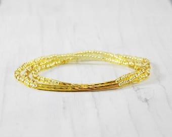 Stackable bracelets minimalist jewelry bridesmaid bracelet stackable gold bracelet simple bracelets girl best friend gift matching bracelets