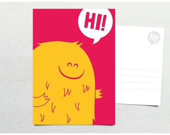 Postcard · Hi! Monster · DIN A6
