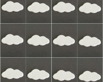 12 x Cloud Toppers, cloud cupcake toppers, edible cupcake decorations,  edible clouds