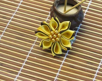 Kanzashi Sunflower two colors