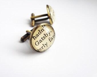 Great Gatsby Cufflinks, Graduation Literature Gift