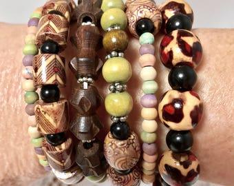 African Beaded Wrap Bracelet