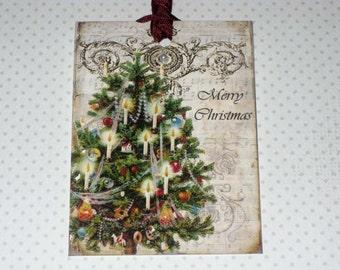 Vintage Gift Tags Christmas Tree ECS