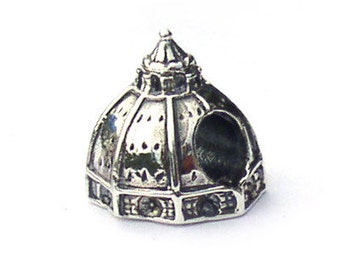 Duomo Florence Italy Landmark Bead Sterling Silver LM009