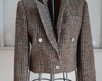Vintage 1960s-1970s Kassel Brothers Multicolored Tweed Boxy Blazer