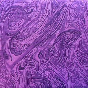 Bright purple swirl fabric by the yard - purple fabric by the yard - purple  marble