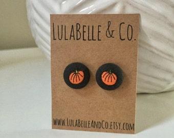 Pumpkins Button Earring