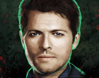Castiel Supernatural Angel Misha Collins Fan Art Prints and Posters