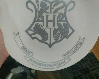 Harry potter inspired plate/Hogwarts/Hogwarts plate/dinner plate/decor plate/Harry potter decoration