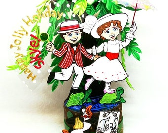 Mary Poppins cake toppers, Mary Poppins gift, Custom cake toppers, Birthday cake toppers, Unique cake toppers, Mary Poppins party