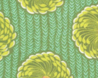 Delhi Blooms in Grass (Corduroy Fabric) by Amy Butler from the Soul Blossoms collection for Rowan