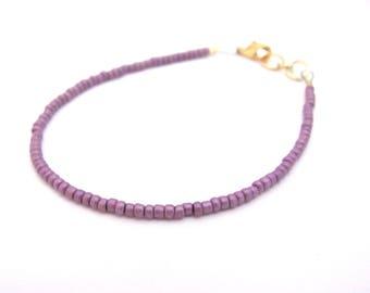 Friendship Bracelet, Purple Friendship Bracelet, Lilac bracelet, seed bead bracelet, beaded bracelet, Dainty bracelet, seed bead