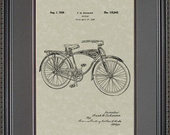 Schwinn Bicycle Patent Art Bicyclist Biker Gift S5942