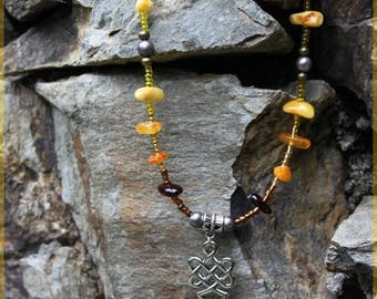 "Necklace ""Tibetan amber"""
