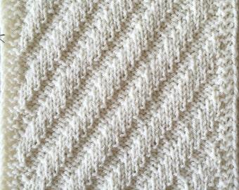 Knit Blanket Pattern Rib-It! Sampler Throw Part 1 PDF