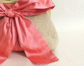Pink Bridal Clutch - Pink Wedding Clutch - Bridesmaids Clutch - Bridal Gifts - Bridal Clutch - Mari