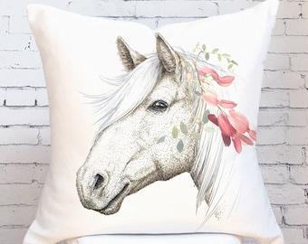 pulvermacher of designs pillows pair horse x item pillow