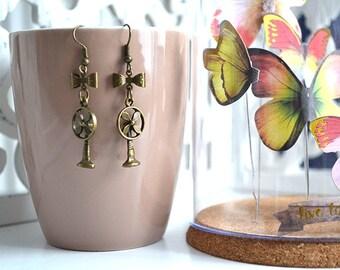 Vintage fan earrings
