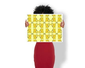 Pikachu Pattern pokemon - Art Print / Poster / Cool Art - Any Size