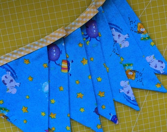 Nursery Rhymes fabric bunting - madebylove