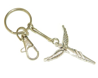 014 - Guardian Angel Charm Keyring for Protection and Good Luck