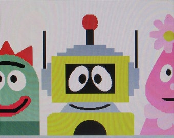 Yo Gabba Gabba Gang Cross Stitch Pattern Instant Download