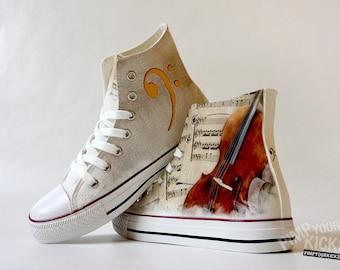Cello, Sheet Music, Custom Made Shoes