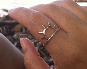 Sun Ring, Gold Sun Ring, Sunrise, Sunset, Handmade Maui Hawaii, Celestial Jewelry, Boho Girls Rings, Mothers Day Gift, Spring Summer Fashion