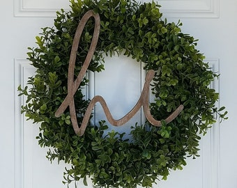 "Hi 22"" Boxwood Wreath"