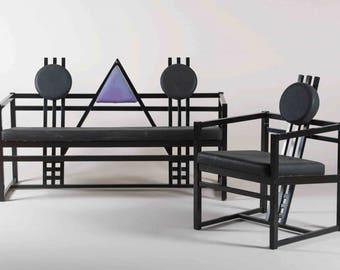 siting set, chair sofa Memphis milano stile postmodernism