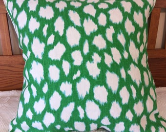 Extra Large Animal Print Pillow Cover - 26 x 26 Bright Green Throw Pillow Cover  -  Lush Green Euro Sham