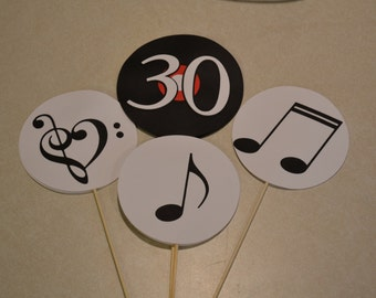 Music Centerpieces / Record Centerpieces/ Music Birthday Party - Set of 3