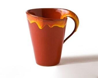 Handmade Ceramic Cup, big cup, Handmade mug, Coffee cup, Tea cup, Coffee mug, Stoneware Cup, Pottery Cup, Mug, Drinkware, , gift