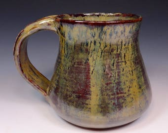 Handmade Pottery Mug Ceramic Stoneware Coffee Cup Harvest Home Glaze