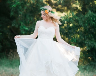 Layered Skirt Wedding Dress - The Sadie Dress