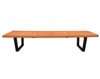 Vintage Mid Century Modern Slat Bench by George Nelson
