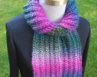 Garter Slip Rib Scarf digital knitting pattern