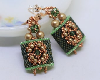 PDF Tutorial - Careena Carrier Beads Earrings Pendant Beading Instruction Beadweaving Pattern Tutorial