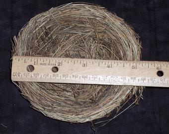 grass bird nest,5 inch diameter w/ wire attachment loop,natural florals and crafts,wreath embellishment,spring crafts,farm