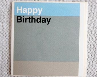 Colour Block Minimalist Birthday Card
