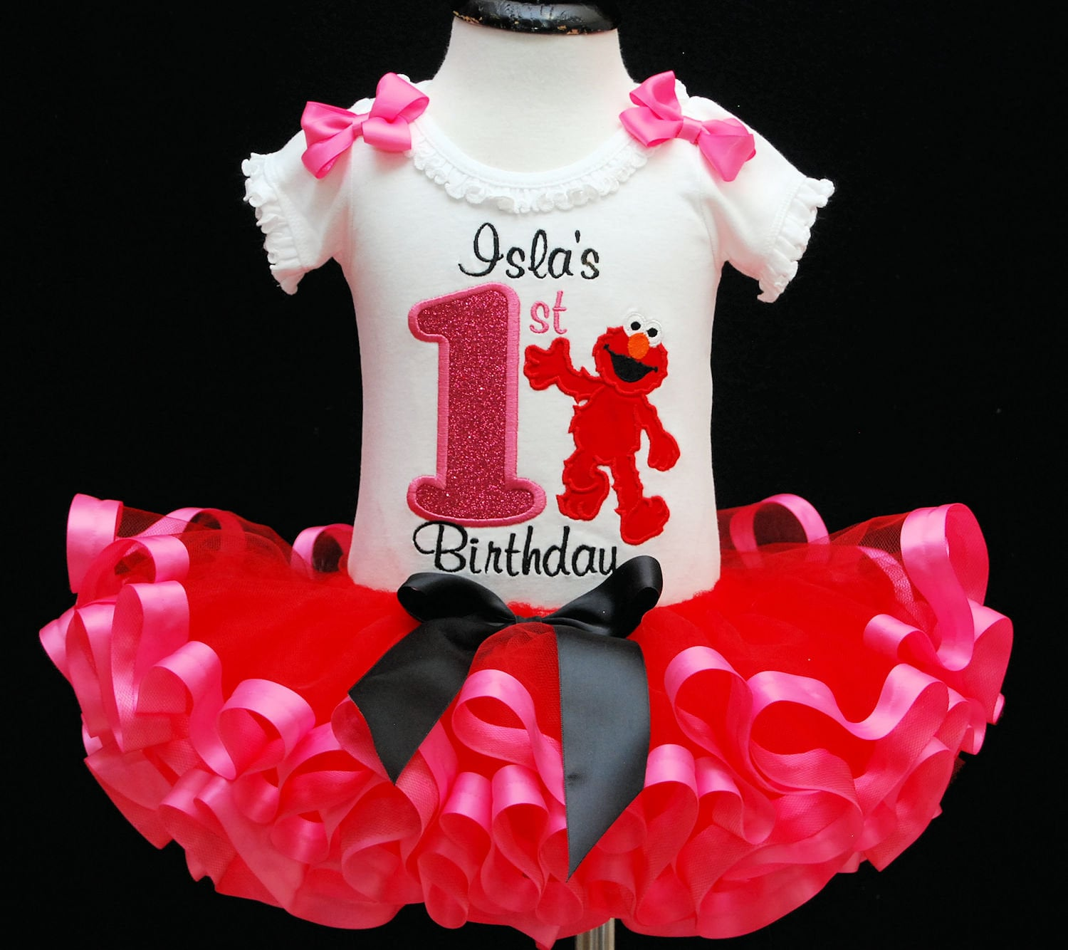 cffefb660 1st birthday girl outfit first birthday outfit elmo birthday outfit tutu  personalized birthday elmo outfit cake