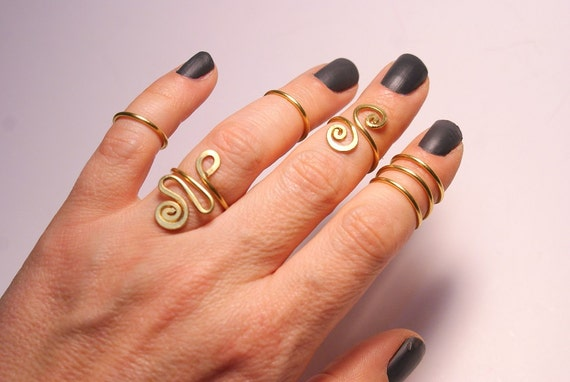 knuckle rings midi ring gold knuckle rings midi ring set