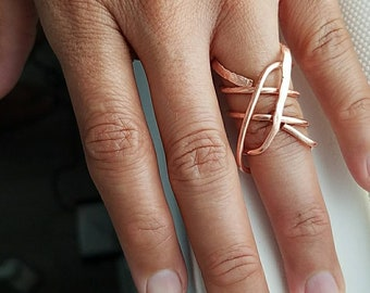 100% solid copper wrap ring