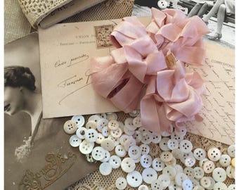 Seam binding ribbon 4 metres beige rose ribbon rayon seam binding ribbon by olive grove primitives