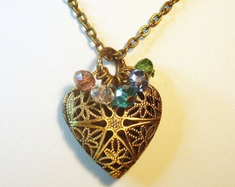 Essential Oil Diffuser - Bronze Heart Design